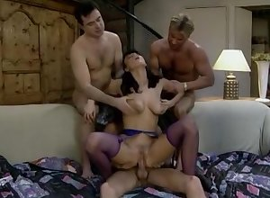 Anita Menacing Fucked unconnected with 3 Guys