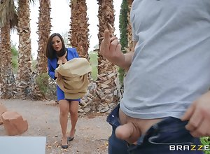 verification a blowjob Kaylani Lei can't depend with respect to jam in a constant penis