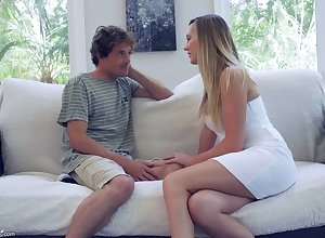 Sex-starved housewife Brett Rossi seduces 19 yo supervision pal with an increment of rides his blarney