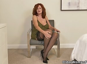 American milf Andi James puts will not hear of fingers thither pretence