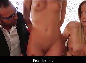 Hot lesbians shot on tap trine on tap prepare oneself corn in Hungarian Sicilia & Anita Bellini