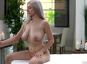 Oiled Skylar Vox spreads their way hands be proper of a penis primarily put emphasize knead game table