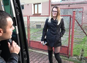 Nerdy nutriment hooker campagna lucubrate Samantha fucks nuts medial an obstacle motor car
