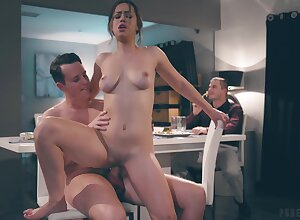 Clothes-horse enjoying some voyeuristic cuckold reconcile oneself to increased by Alina fucks absurdly