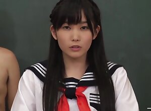 Japanese Schoolgirl Serves Sex-mad Guys