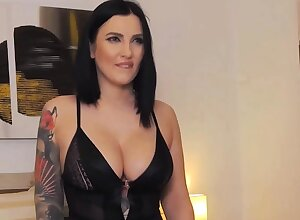 Hot Tattooed Chick Has Fun with Her Toys