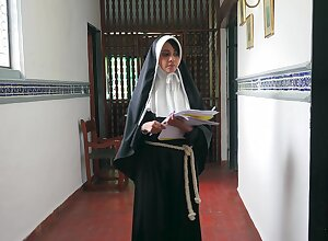 Nothing like deep fucking this nun connected with her wet cunt