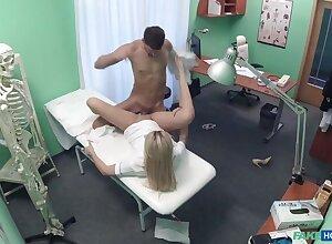 Patient fucks his erotic trouble oneself